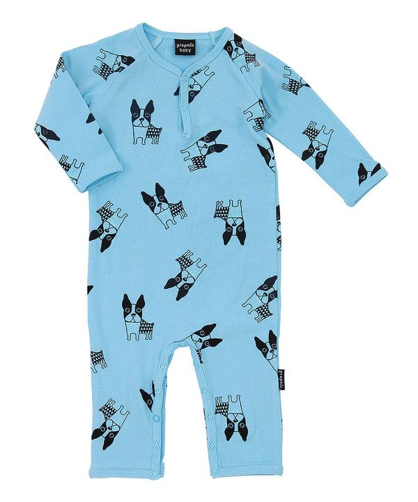 Look at this Blue Dog Long-Sleeve Romper on #zulily today!