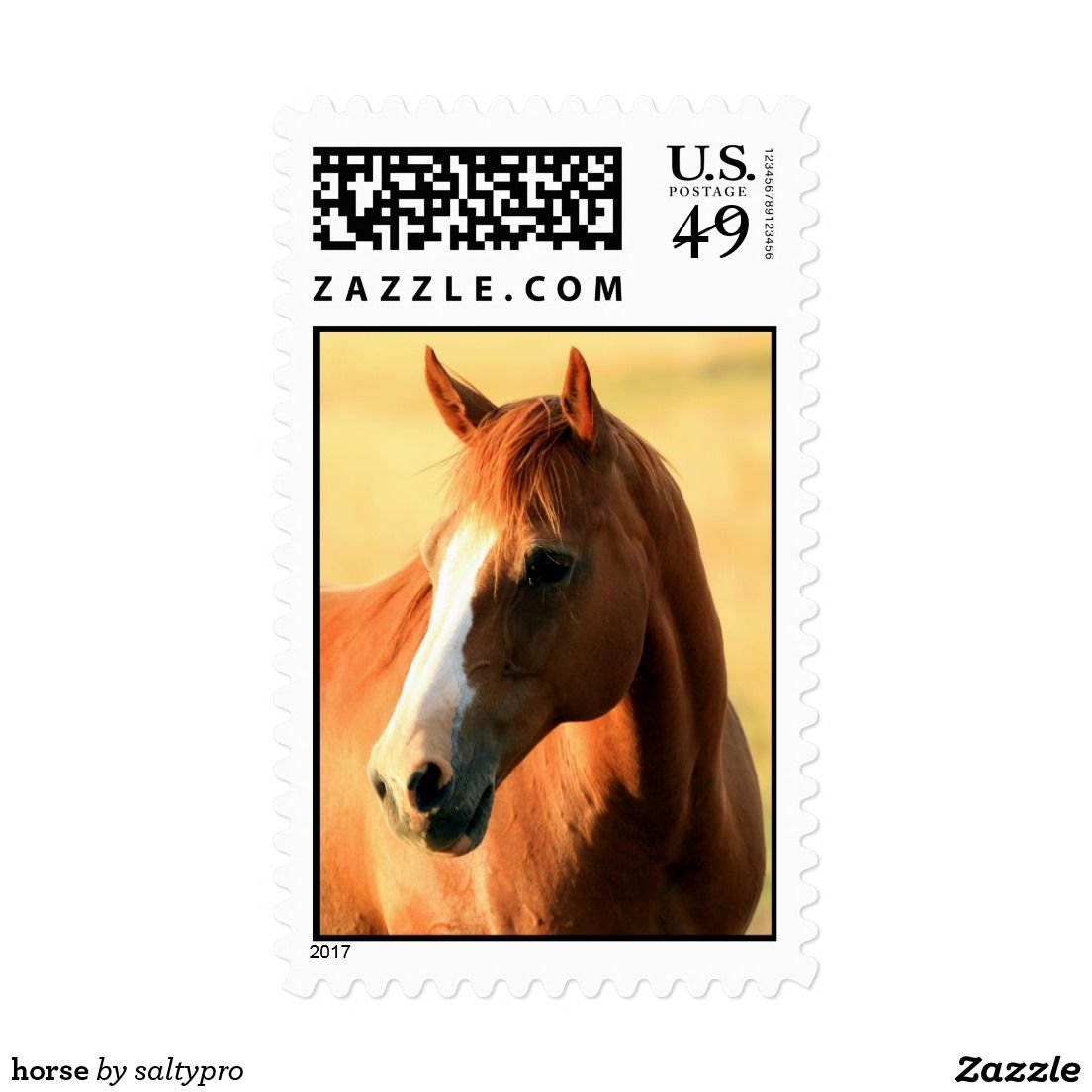 Horse Postage Zazzle Com Horses Postage Adhesive Labels