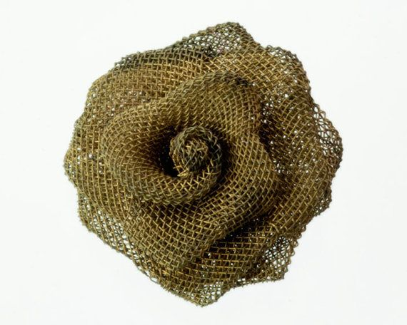 2 Steampunk Roses 1 Wire Mesh Vintage Rose Victorian by ShadowMix