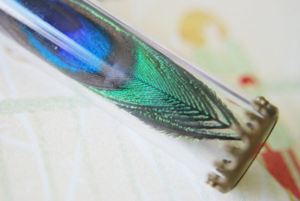Peacock+Feather+Necklace+Vintage+Glass+Vial+by+NaturalPrettyThings