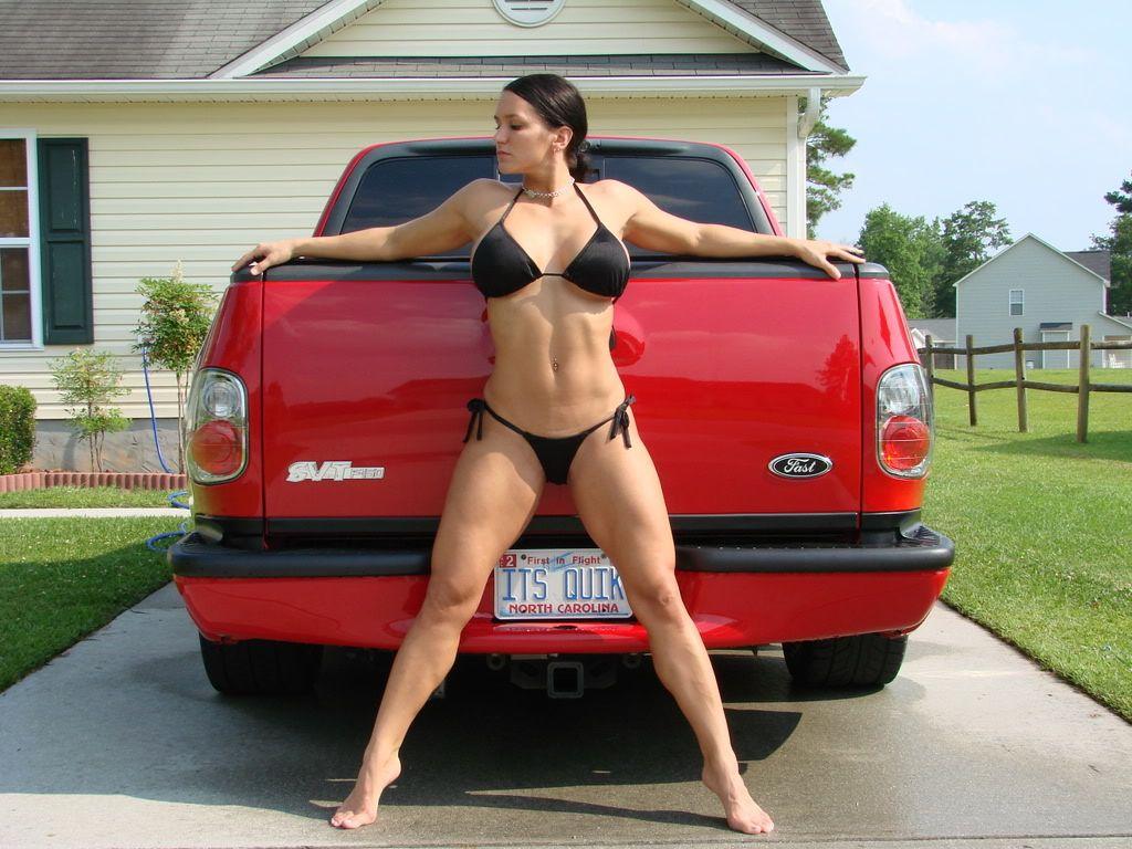 Bikini girls with trucks