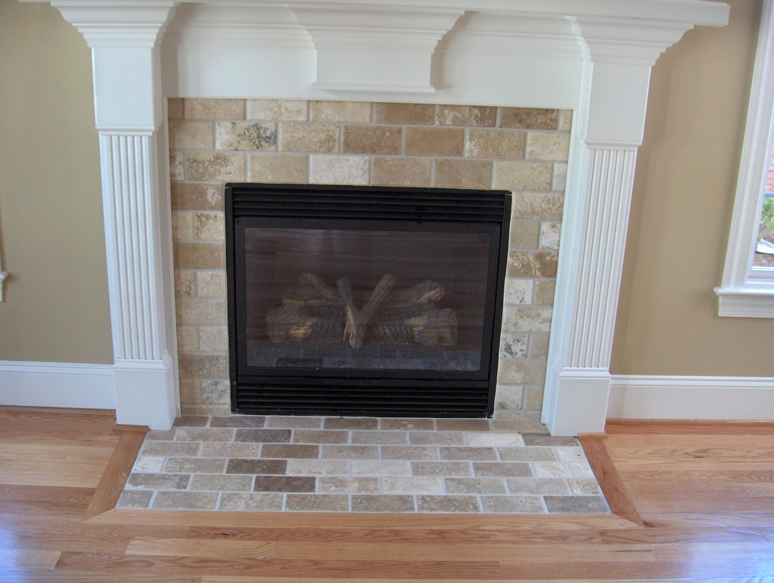 Come Visit Us At Triangle Tile Stone Fireplace Triangle Tiles