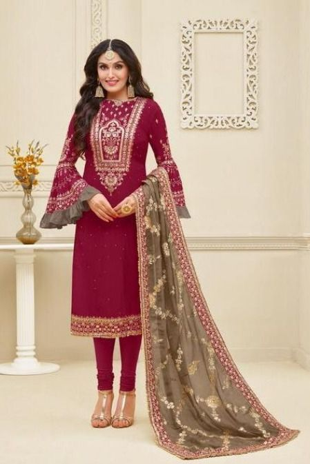 #siya #siyafashion #attractive #pink #partywear #salwar #kameez #Siya #Siyafashion #Attractive #Pink #Partywear #Salwar #Kameez Brown Things brown color salwar kameez