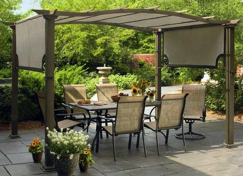 This pergola replacement canopy fits the Garden Oasis Pergola S-PG11D1 that  was recently sold at Sears department stores in 2012! - Sears Garden Oasis Pergola Canopy In 2018 Replacement Canopies For