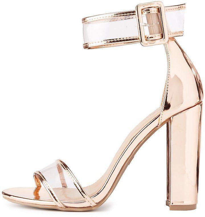 814639c0a7 Clear Two-Piece Dress Sandals | Products | Shoes, Dress sandals, Sandals