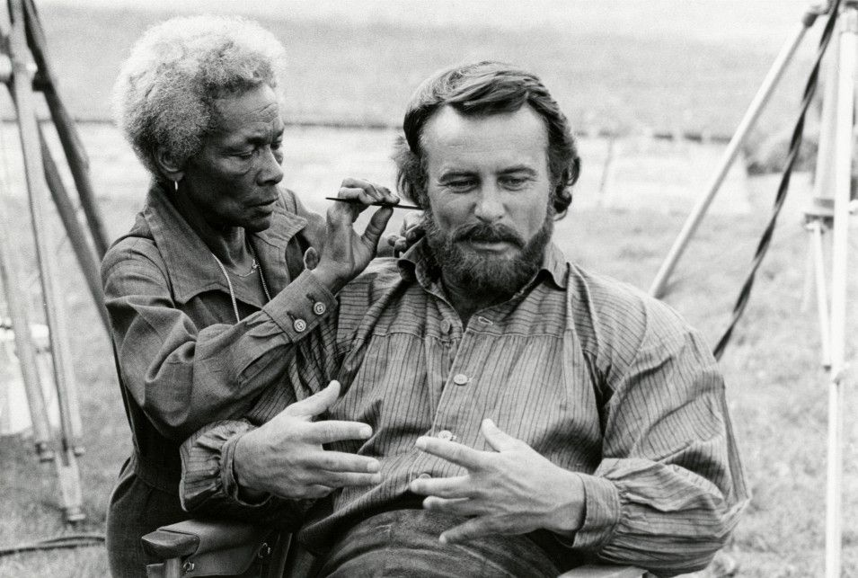 Bob Gets A Touch Up Before His Next Scene On The 1978 Tv Mini Series