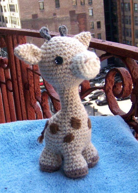 Baby Giraffe-Instant Download Crochet Pattern-Toy Giraffe-Amigurumi ...