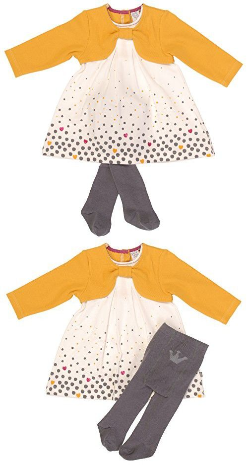 3854c1588 Petit Lem Infant Dress with Cardigan and Tights