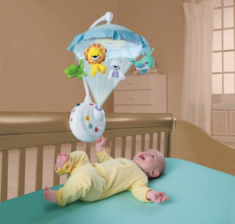 EUC Fisher- Precious Planet 2-in-1 Projection Mobile for crib with ...