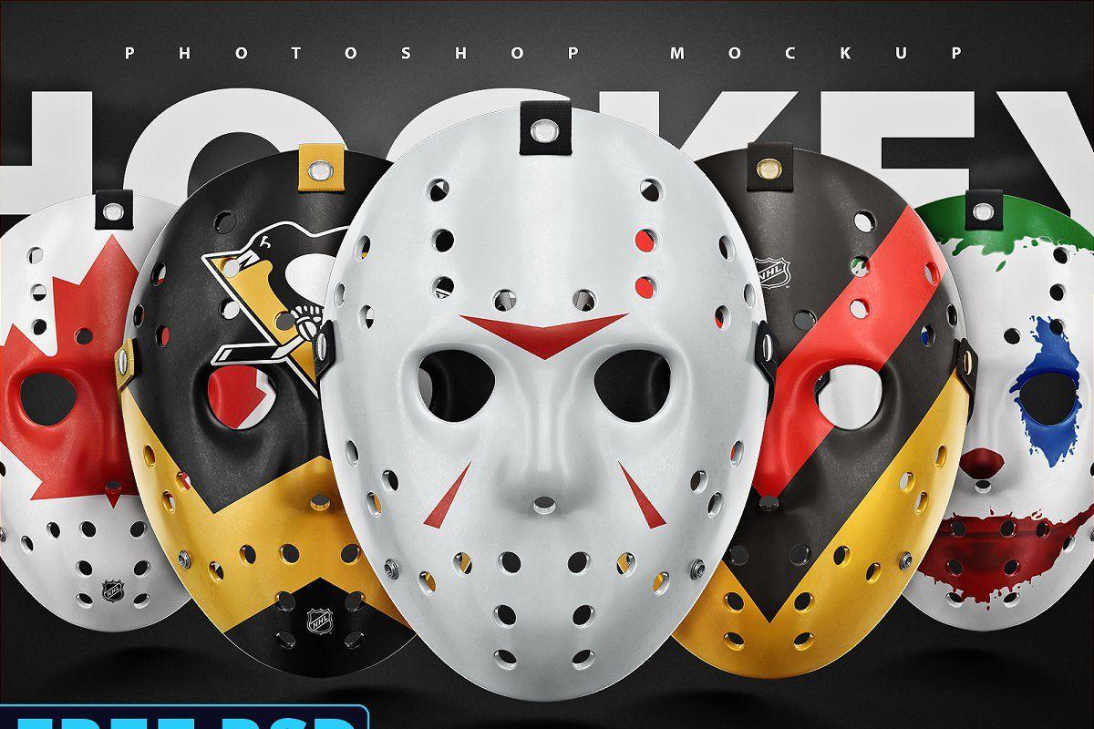 Download Hockey Face Mask Psd Mockup Logo Mockup Free Mockup Mockup Psd