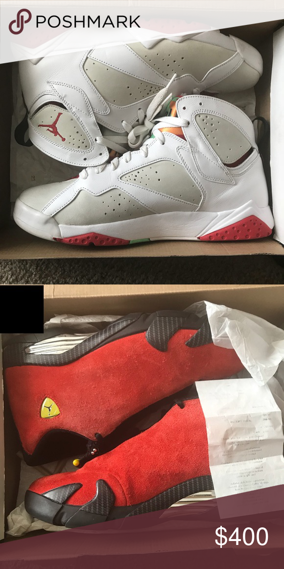 promo code 0eb87 97560 Jordan s Hare 7s size 11 9 10 condition og box🔥 Ferrari 14s size 10 9 10  condition og box and receipt 🔥 Cash or offers for more pic HMU Shoes  Sneakers