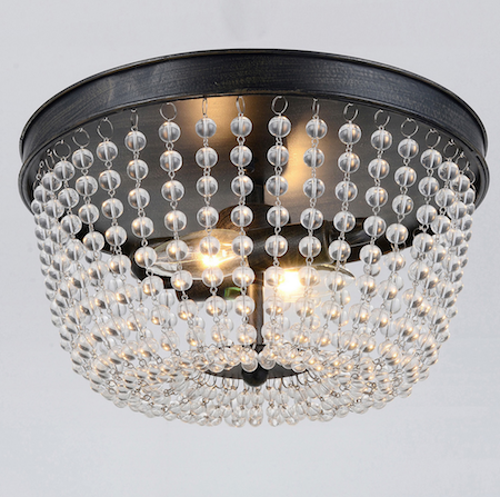 loading chandelier ceiling flush elk lighting spring crystal spanish ceilings mount bronze zoom pendant