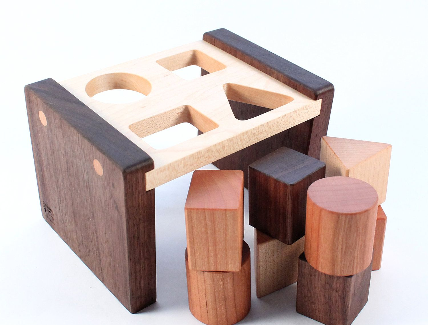 Wooden Toys For Pre School : Wooden shape sorter toy a natural and organic
