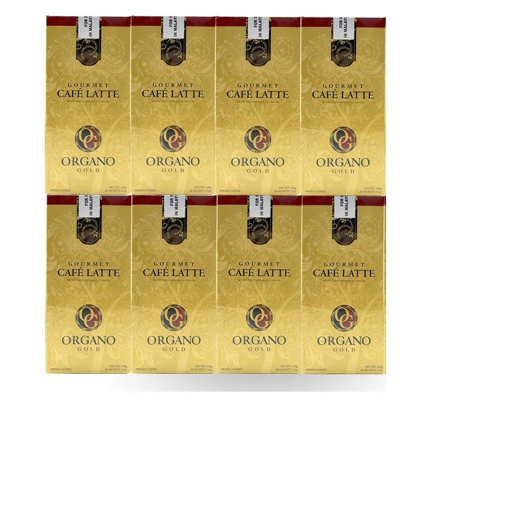 Details About 8 Boxes Organo Gold Cafe Latte 100% Organic