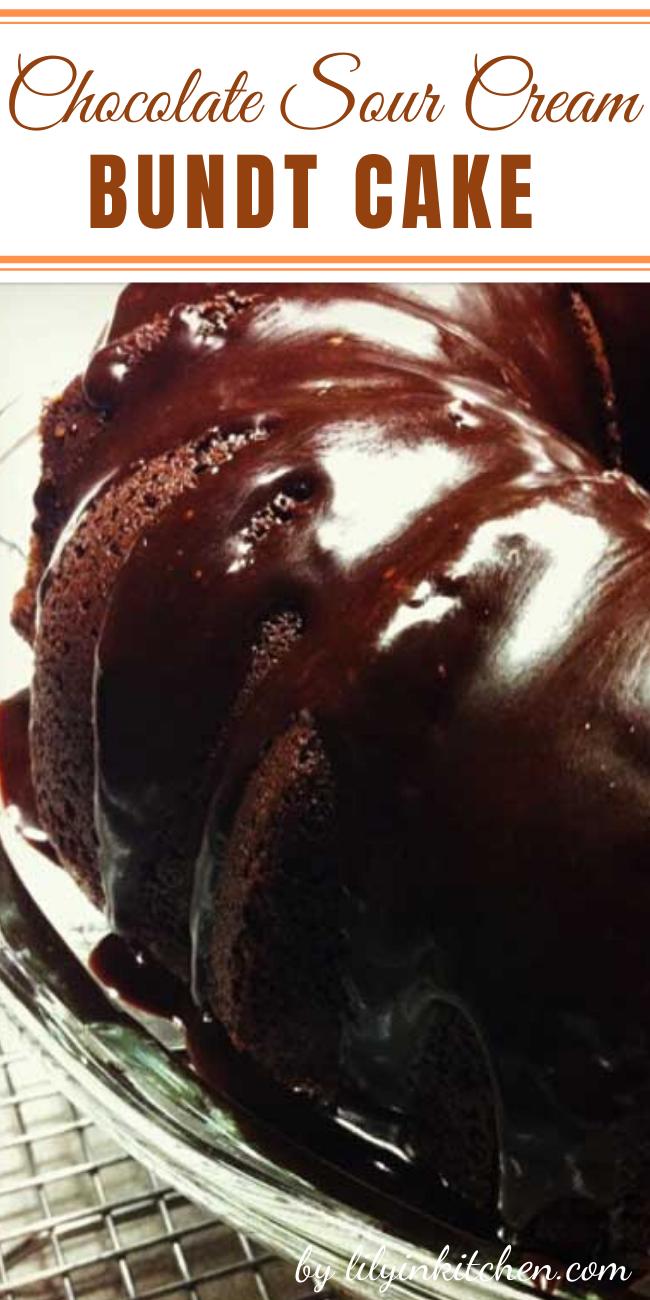 Chocolate Sour Cream Bundt Cake Recipes Recipe In 2020 Bundt Cake Sour Cream Sour Cream Chocolate Cake