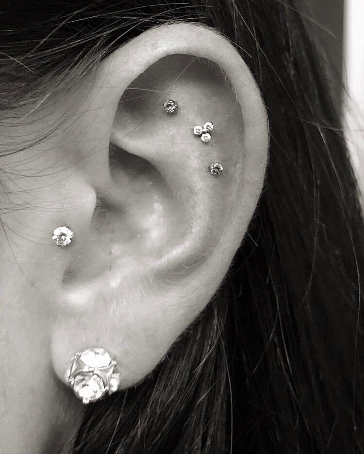 Triple cartilage piercing | Triple cartilage piercing ...