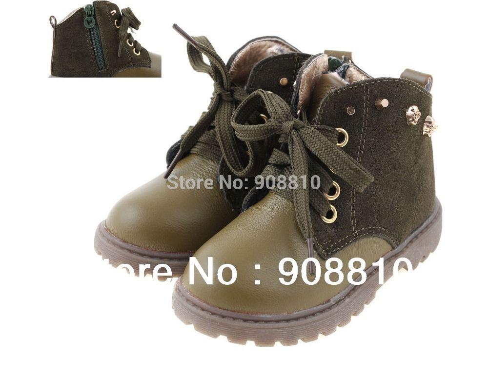 Advertencia Confidencial Acción de gracias  Click to Buy << New!!!Children genuine leather boots unisex zip and shoe  lace closure skull metal decoration boys au… | Shoe laces, Boots, Genuine  leather boots