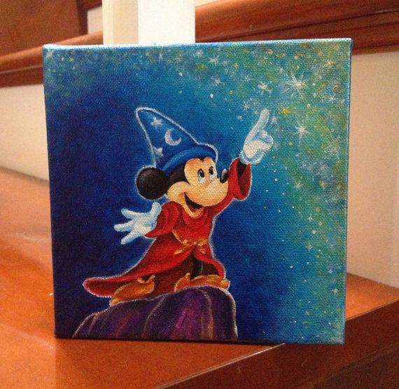 custom disney canvas 6x6 by Jaysart $45.00 on Etsy. Love ...