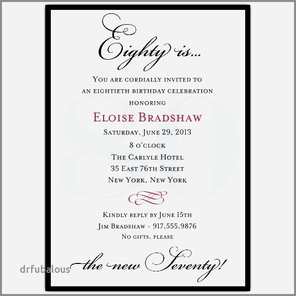 32 Lovely Birthday Invitations No Gift Request