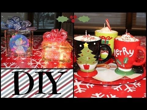 ▶ 2 DIY Christmas Gifts! Hot Cocoa Candles & Lighted Glass Blocks