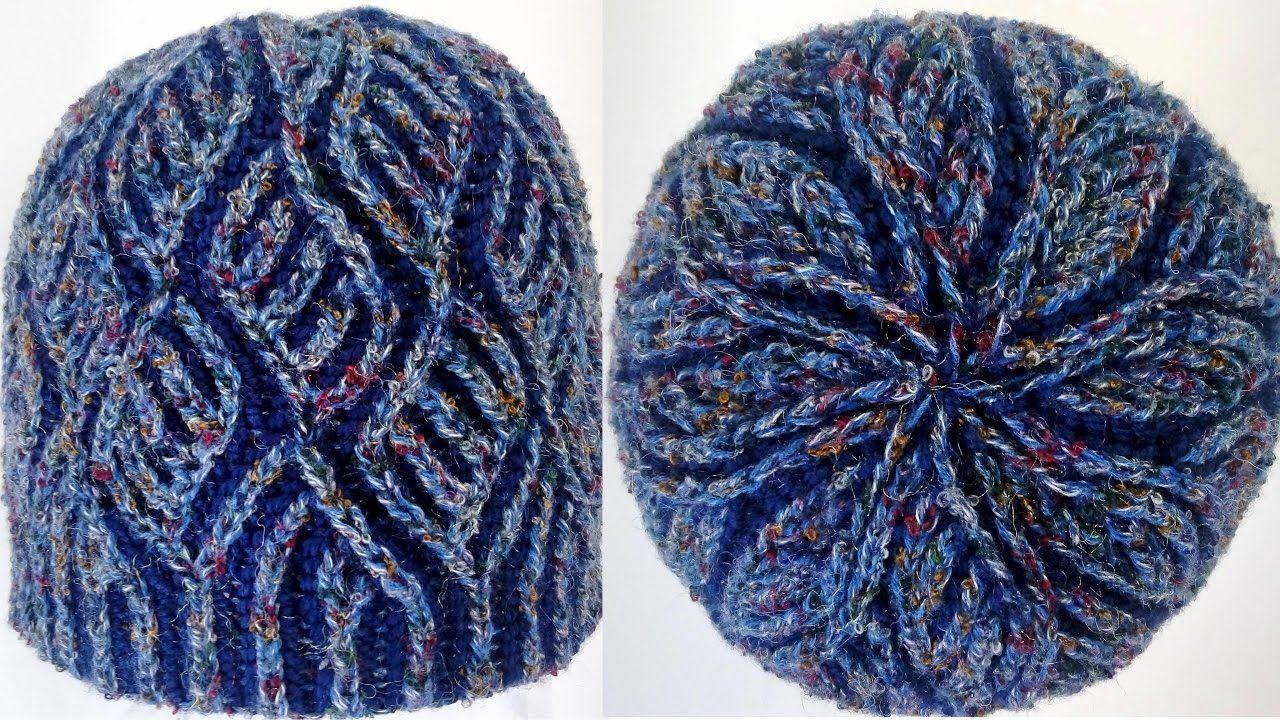 Two-color brioche hat using italian/tubular cast-on ...