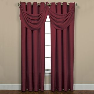 Sutton Grommet Bourdeaux Waterfall Valance Window Curtains In Bordeaux Can Have