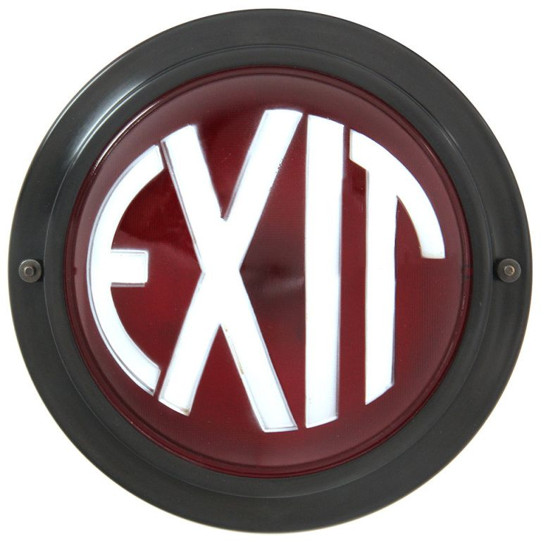 An Exit Sign never looked so good....