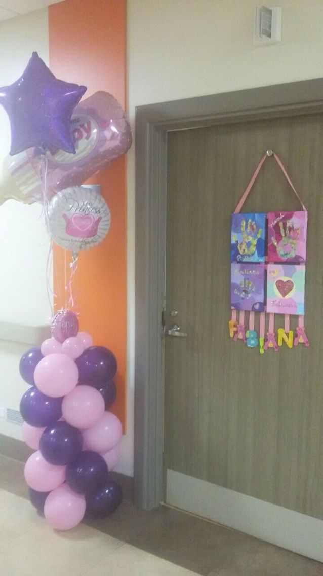 decoration hospital door new born baby girl decoraci n de