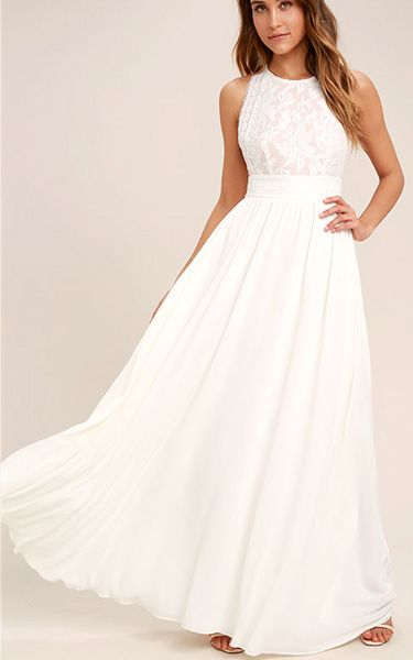 White Maxi for Fall Wedding Dresses
