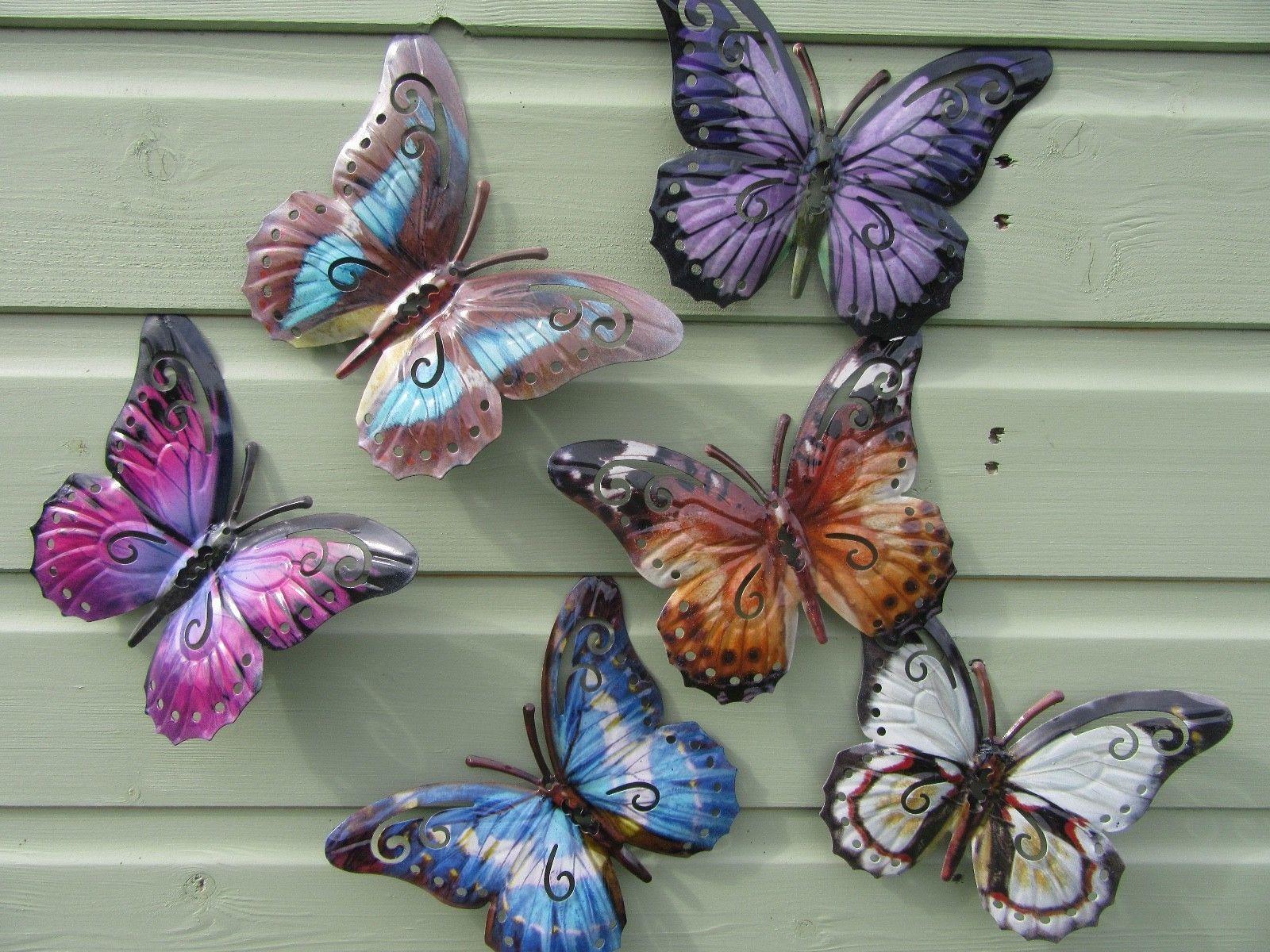 Butterfly Garden Wall Art   Various Colours   Butterfly Garden Ornament    NEW | EBay