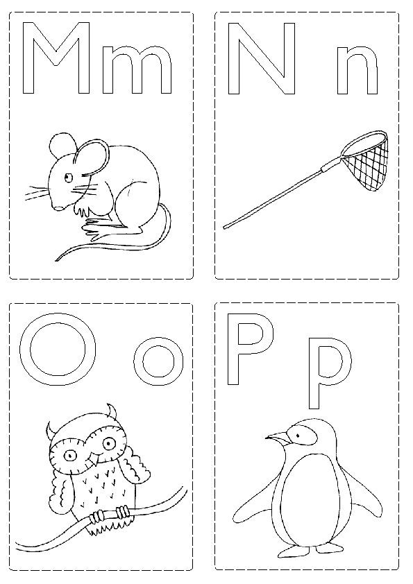 Printable Color Your Own Flash Cards Abc Flashcards Printable Flash Cards Abc Coloring Pages