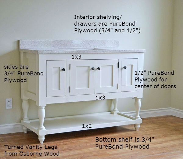 Ana White Build A 48 Turned Leg Vanity Free And Easy Diy