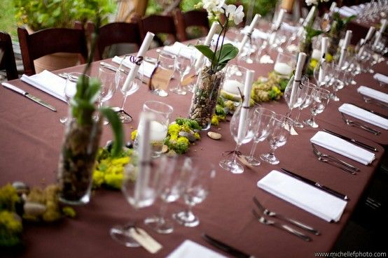 Earth tone Wedding Colors. Events by So Eventful! | Tables to talk ...