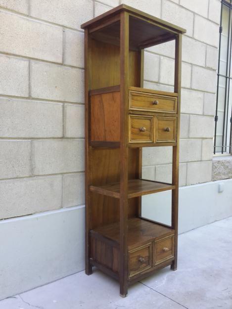 Tolva anaquel mueble de ba o madera multiuso 145 x 50 for Mueble bano madera clara