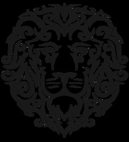 Lion Face Curls Tattoo Svg Picture Tribal Tattoos Tribal Lion Lion Tattoo