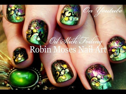 DIY Oil Slick Nail Art Tutorial