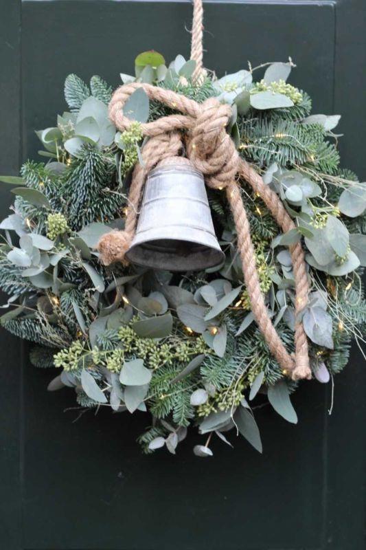 Photo of Kerst Deurkrans 26 november 2018 #decoratie #rustikaleweihnachten Kerst Deurkran…