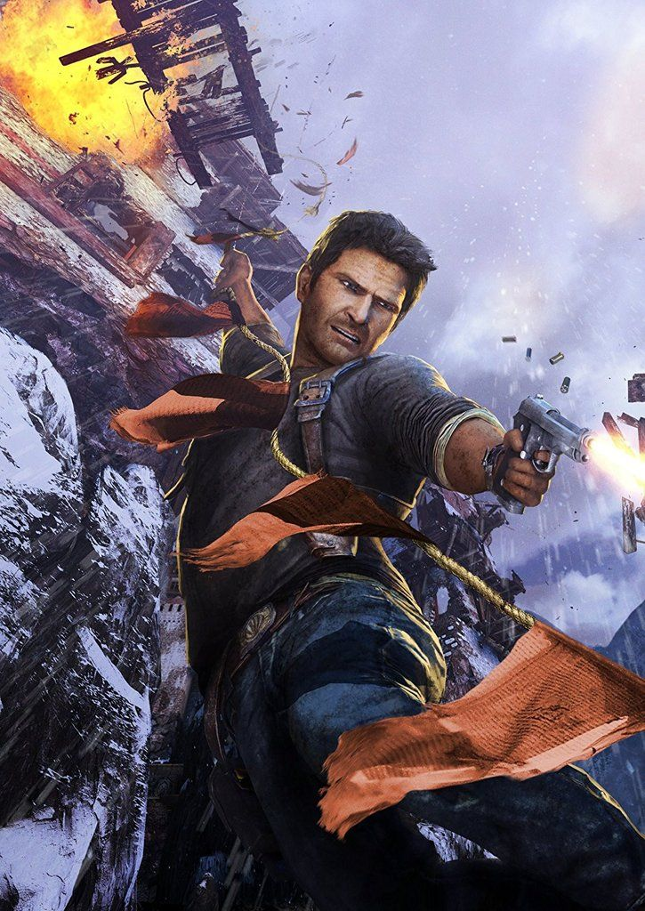 Uncharted 2 Among Thieves Poster Videojuegos Mejores Fondos De