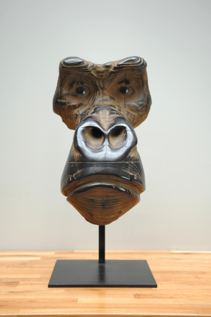 Quentin Garel - Mask of gorilla - 2010 - Bronze - 60 x 30 x 30 cm - Edition of 8