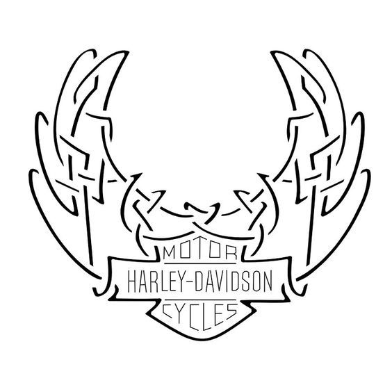 tatuaggio di harley davidson logo celtico tattoo tattootribes com rh pinterest com large harley davidson stencil