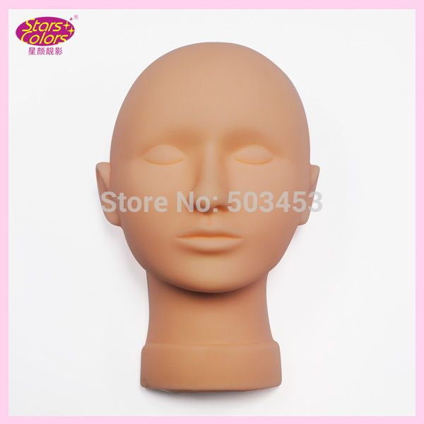 Buy Prossional Training Mannequin Head For Eyelash Extension Flat Head Practice Makeup Head Eyelash Extension Training