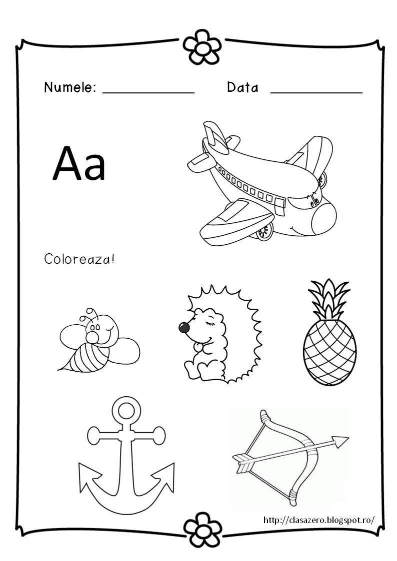 Litera A Download Pdf Litera A Litera M Download Pdf Litera M Litera B Download Litera B L Alphabet Preschool Kindergarten Math Worksheets Letter Worksheets