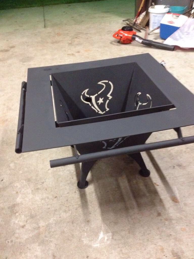 A Fire Pit Well Suited For Fans Of Football George Ranch