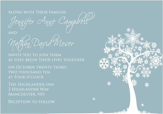 Snowflake do it yourself pinterest invitation suite weddings winter tree snowflake invitations the jennifer winter tree wedding invitation suite solutioingenieria Choice Image