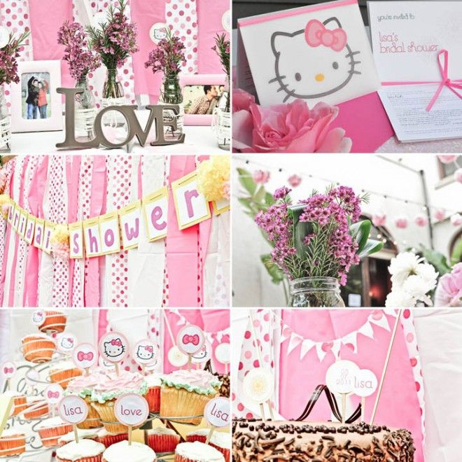 b70bf30a6e36 Bridal shower done with Hello Kitty touches!