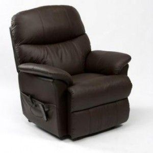 Lars Luxury Leather Rise And Recline Chair Brown Cavendish Furniture Mobility Comfortable Armchair Recliner Recliner Chair