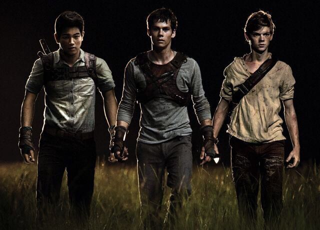 Minho, Thomas, and Newt - (Ki Hong Lee, Dylan O' Brien, and Thomas Sangster)