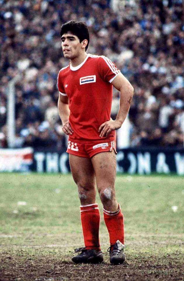 "1979. 19-year-old Diego Armando Maradona in ""Argentinos ..."