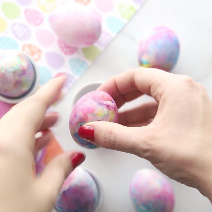 HOW TO TIE DYE EASTER EGGS – SHAVING CREAM EASTER EGGS