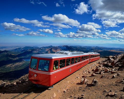 Cog Railway, Pikes Peak, Pike National Forest, Colorado Springs, Colorado at 14,115 feet